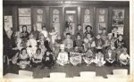 Roosevelt School 1953; Carolyn Bogar, David Hasbrouck, Carol Smith, Rita Bosek, Linda Roberts, Marilyn Blazell, Linda It