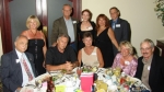 Table #1; Bruce Henderson 65; Ed 65 and Grace Lewandowski; Carol Lee Charney 65; Bill O Connor 65; Doris Severance Peckh