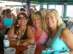 Carol Mastrangelo, Kathy Messaros and Chris Ebright at the Tiki Bar, Pt. Pleasant, NJ