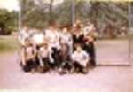 1953 League Champs: Mighty Mites of Lincoln School  Front Row Joe Finelli, Al Kohler, Joe Saltiziac,Rodney Parsens,2nd R