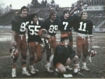 Ken Lyons, Jim Kubu, Don Finer, Keith Hugger, John Bodnar and Head Coach Mike Punko after defeating Phillipsburg 23-10 t