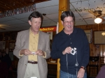 Todd Budy and Mike Gallagher ('64) at the VFW.