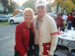 Dan Dazet and Kathleen Messaros  (tailgate party)