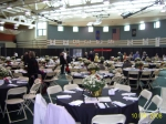 The New Rahway Rec Center is readied for 500+ Alumni guests.
