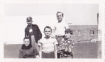 front row Bruce S,Ed K,Frank B  Back row Wellington(Tinker),Alan D  1948/49