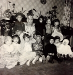 Halloween Party - October 1957  Back Row: John Helly, Gary Manchester, Phillip Castiglione, Jim Maye, Patrick Nash, Tomm